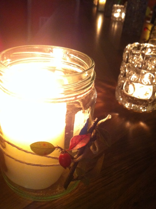 foliage candle