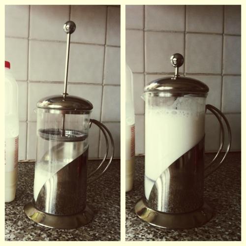 cafetiere milk