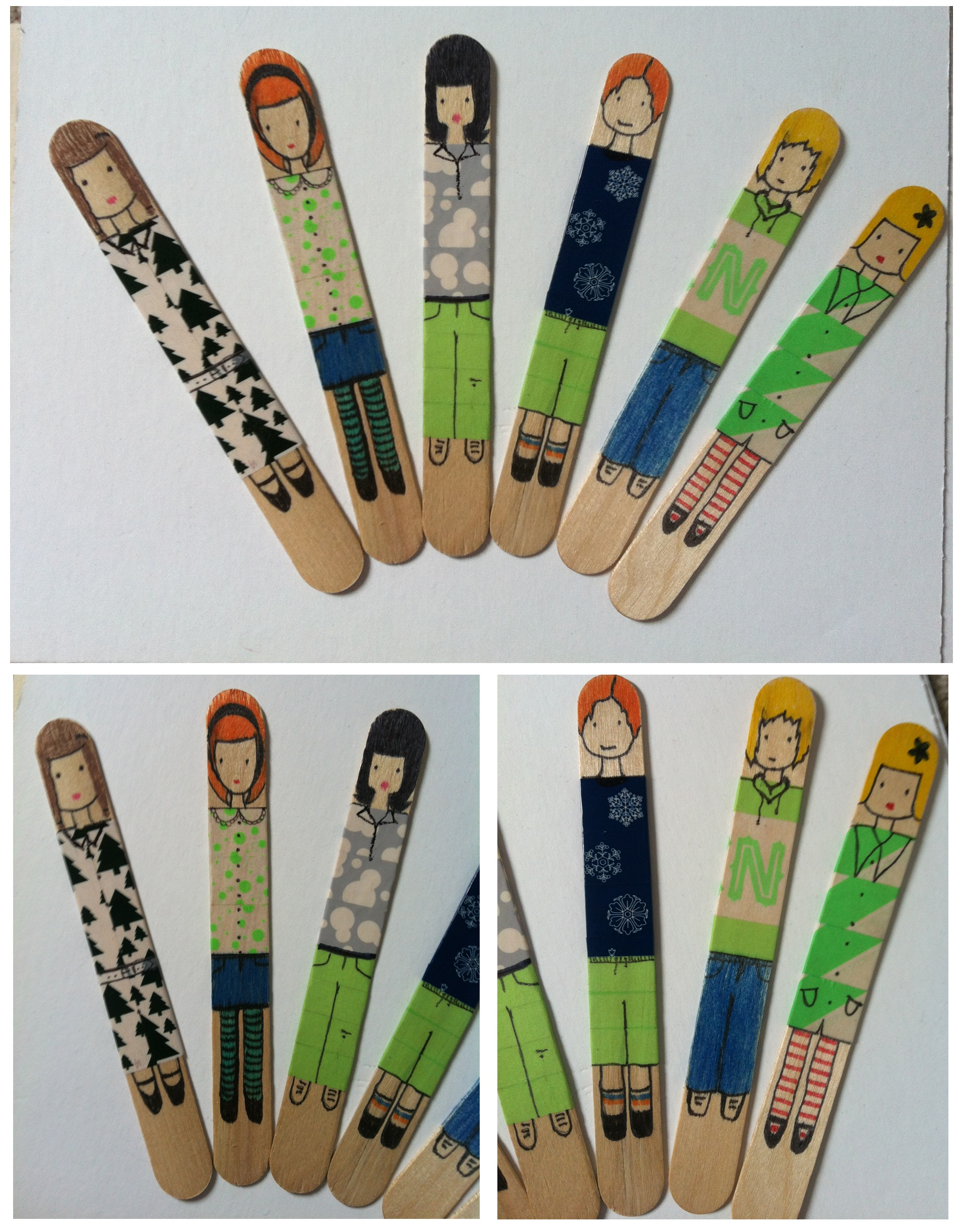 Name tag craft ideas - These Are Both Such Easy Ideas And Require Very Little Materials Top Tip For Finding Nice Coloured Masking Tapes Is Ikea Their Papery Goods Department Is